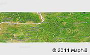 Satellite Panoramic Map of Chlong