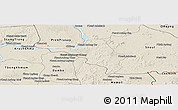 Shaded Relief Panoramic Map of Chlong