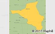 Savanna Style Simple Map of Chlong