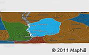 Political Panoramic Map of Kratie, darken