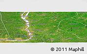 Satellite Panoramic Map of Kratie