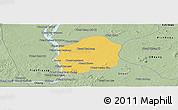 Savanna Style Panoramic Map of Kratie