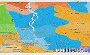 Political Shades Panoramic Map of Kratie