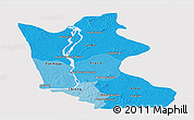 Political Shades Panoramic Map of Kratie, single color outside