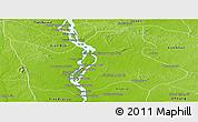 Physical Panoramic Map of Sambo