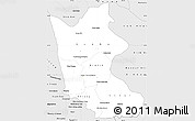 Silver Style Simple Map of Kratie