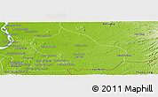 Physical Panoramic Map of Snoul