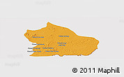 Political Panoramic Map of Snoul, cropped outside