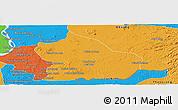 Political Panoramic Map of Snoul
