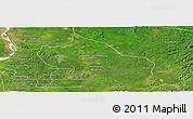 Satellite Panoramic Map of Snoul
