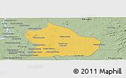 Savanna Style Panoramic Map of Snoul