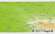 Physical Panoramic Map of Mondul Kiri