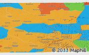 Political Panoramic Map of Mondul Kiri