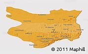 Political Shades Panoramic Map of Mondul Kiri, cropped outside