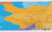 Political Shades Panoramic Map of Mondul Kiri