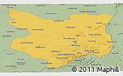 Savanna Style Panoramic Map of Mondul Kiri