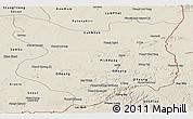 Shaded Relief Panoramic Map of Mondul Kiri