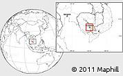 Blank Location Map of Dangkork