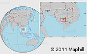 Gray Location Map of Dangkork