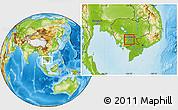 Physical Location Map of Dangkork