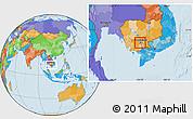 Political Location Map of Dangkork, highlighted parent region