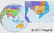 Political Location Map of Dangkork
