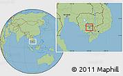 Savanna Style Location Map of Russey Keo