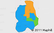 Political Simple Map of Phnom Penh, cropped outside