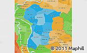 Political Shades 3D Map of Prey Veng