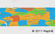 Political Panoramic Map of Kamchay Mear
