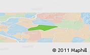 Political Panoramic Map of Kanch Chreach, lighten