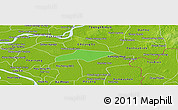 Political Panoramic Map of Kanch Chreach, physical outside