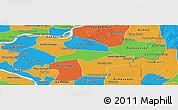 Political Panoramic Map of Kanch Chreach