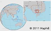 Gray Location Map of Prey Veng (PT)