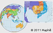 Political Location Map of Prey Veng (PT)