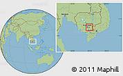 Savanna Style Location Map of Prey Veng (PT)
