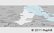 Gray Panoramic Map of Bakan