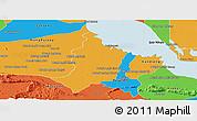 Political Panoramic Map of Bakan