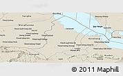 Shaded Relief Panoramic Map of Bakan