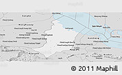 Silver Style Panoramic Map of Bakan