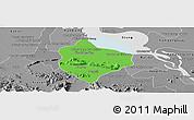 Political Panoramic Map of Krakor, desaturated