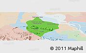 Political Panoramic Map of Krakor, lighten