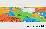 Political Panoramic Map of Krakor