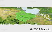 Political Panoramic Map of Krakor, satellite outside