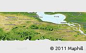 Satellite Panoramic Map of Krakor