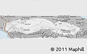 Gray Panoramic Map of Kravanh