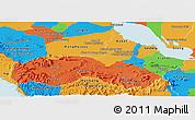 Political Panoramic Map of Pursat