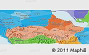 Political Shades Panoramic Map of Pursat