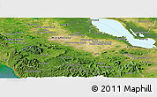 Satellite Panoramic Map of Pursat