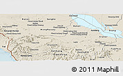 Shaded Relief Panoramic Map of Pursat
